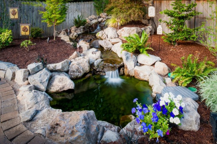 Pond Around Small Ideas Landscaping