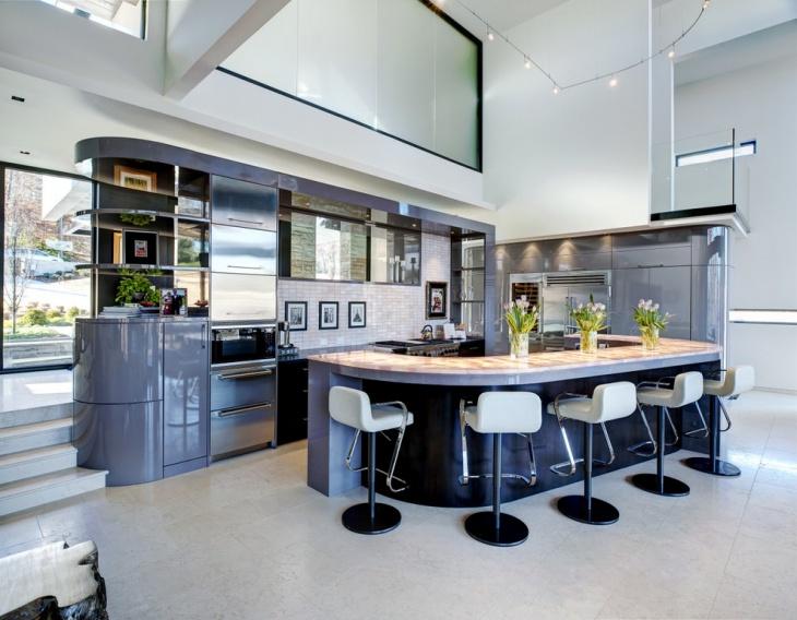 18 Curved Kitchen Island Designs Ideas Design Trends