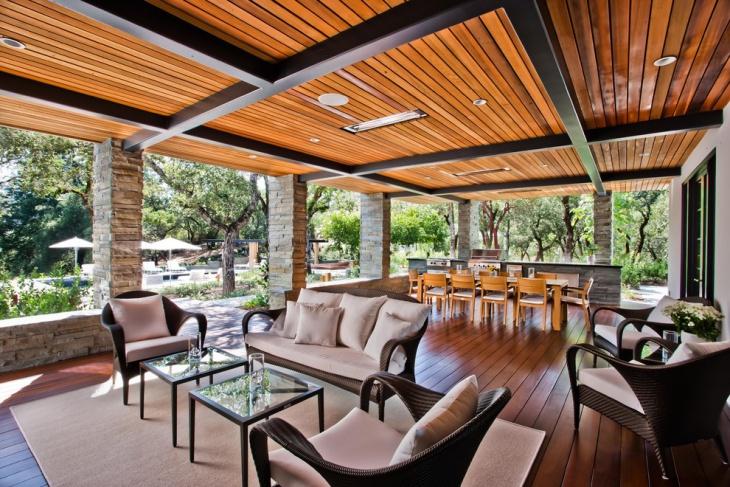 17+ Outdoor Ceiling Designs, Ideas | Design Trends ... on Backyard Patio Designs  id=25821