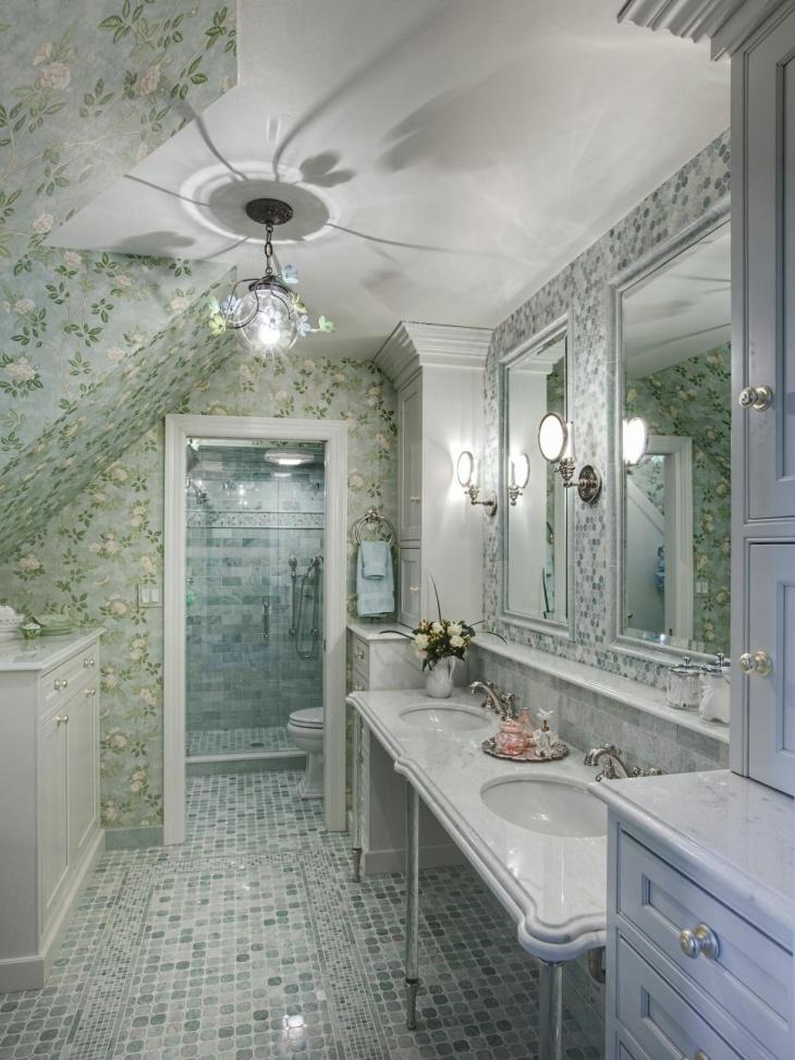 17+ Floral Bathroom Tile Designs, Ideas | Design Trends ... on Floral Tile Bathroom Ideas  id=65253