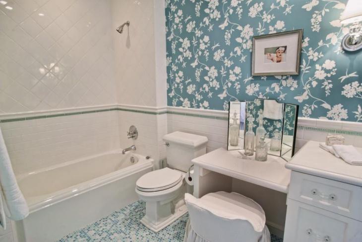 17+ Floral Bathroom Tile Designs, Ideas | Design Trends ... on Floral Tile Bathroom Ideas  id=32084