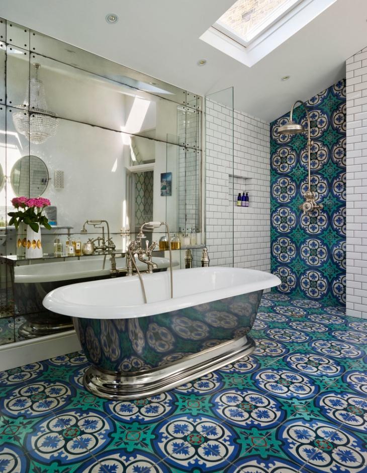 17+ Floral Bathroom Tile Designs, Ideas | Design Trends ... on Floral Tile Bathroom Ideas  id=50856
