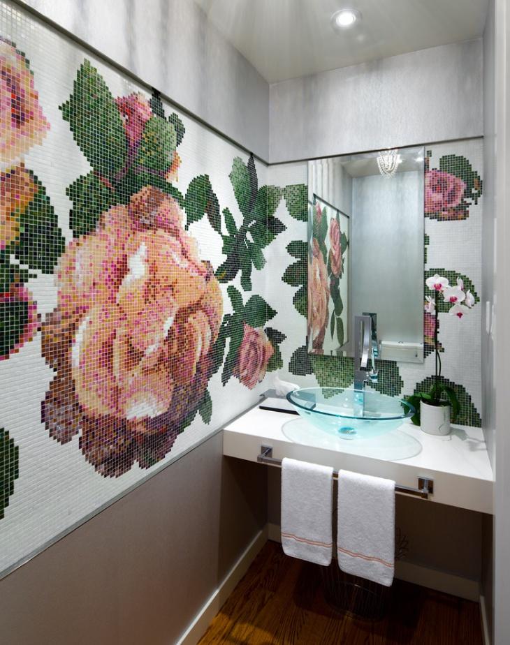 17+ Floral Bathroom Tile Designs, Ideas | Design Trends ... on Floral Tile Bathroom Ideas  id=15253