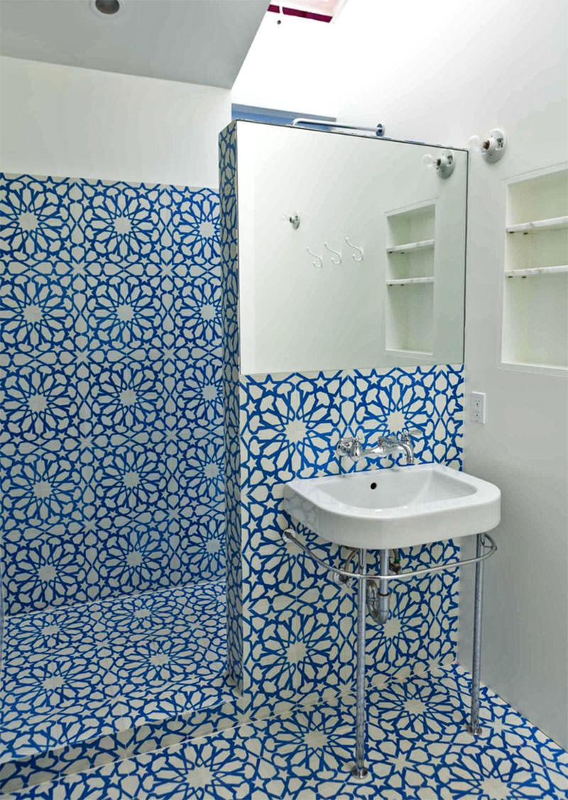 17+ Floral Bathroom Tile Designs, Ideas | Design Trends ... on Floral Tile Bathroom Ideas  id=90552