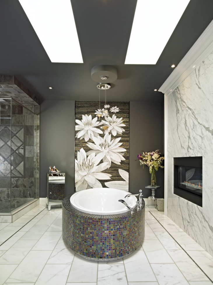 17+ Floral Bathroom Tile Designs, Ideas | Design Trends ... on Floral Tile Bathroom Ideas  id=97771
