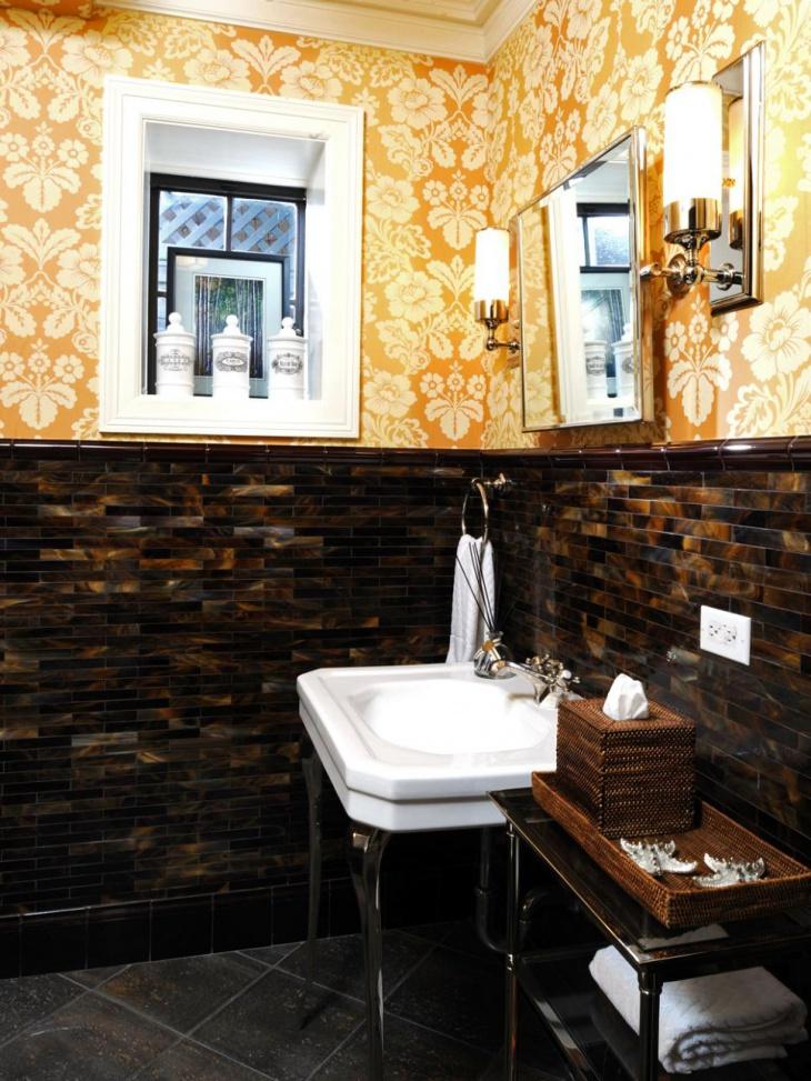 17+ Floral Bathroom Tile Designs, Ideas | Design Trends ... on Floral Tile Bathroom Ideas  id=29399
