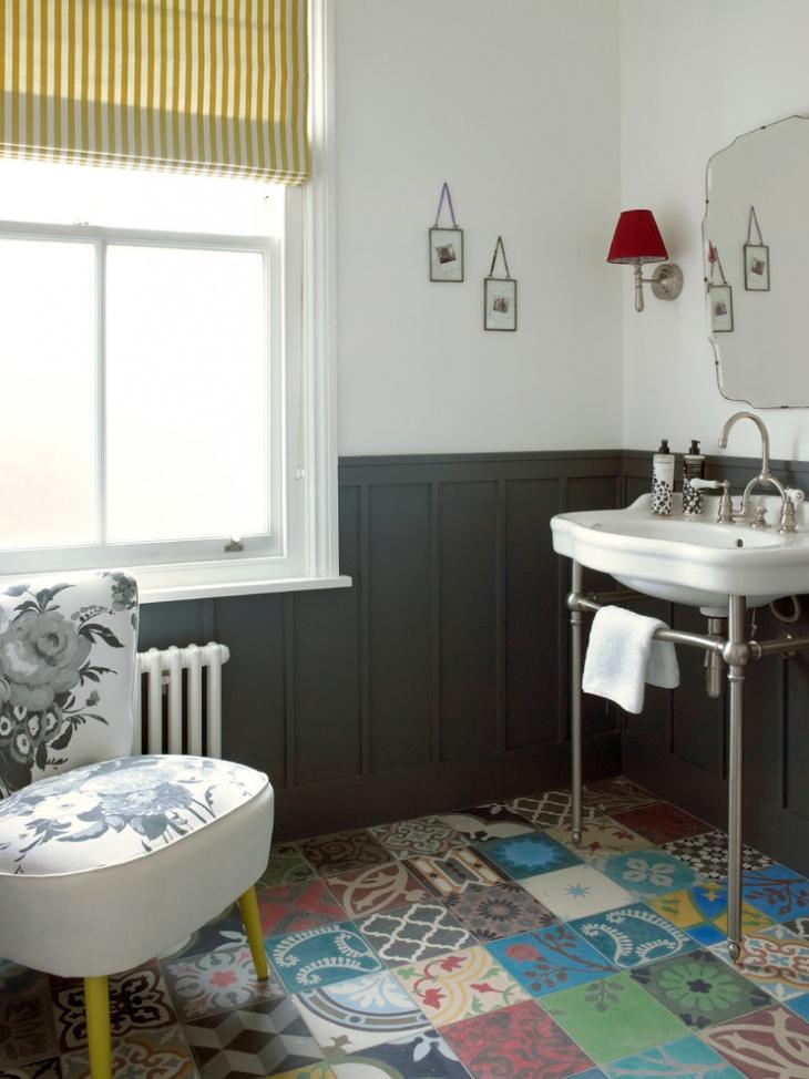 17+ Floral Bathroom Tile Designs, Ideas | Design Trends ... on Floral Tile Bathroom Ideas  id=37691