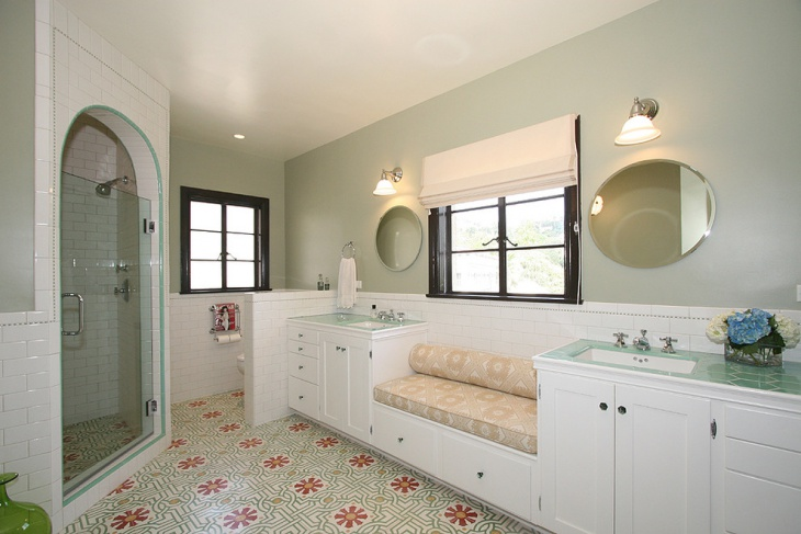 17+ Floral Bathroom Tile Designs, Ideas | Design Trends ... on Floral Tile Bathroom Ideas  id=84394