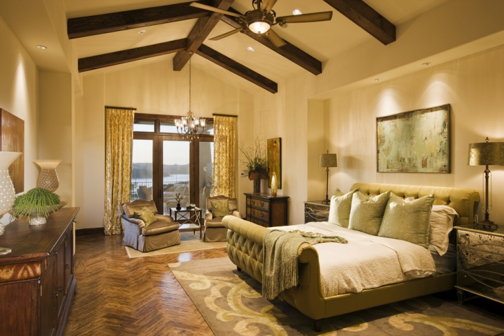 tuscan master bedroom