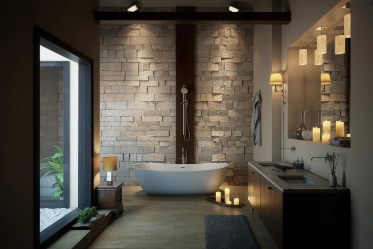 17+ Concrete Bathroom Flooring Designs, Ideas