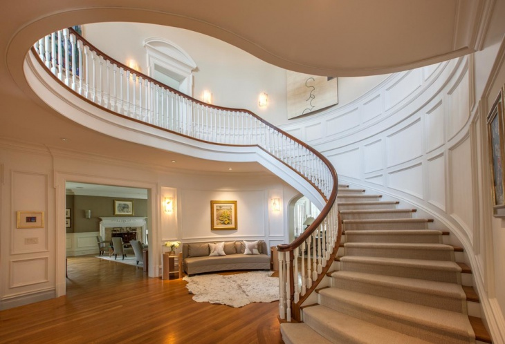17 Curved Staircase Designs Ideas Design Trends