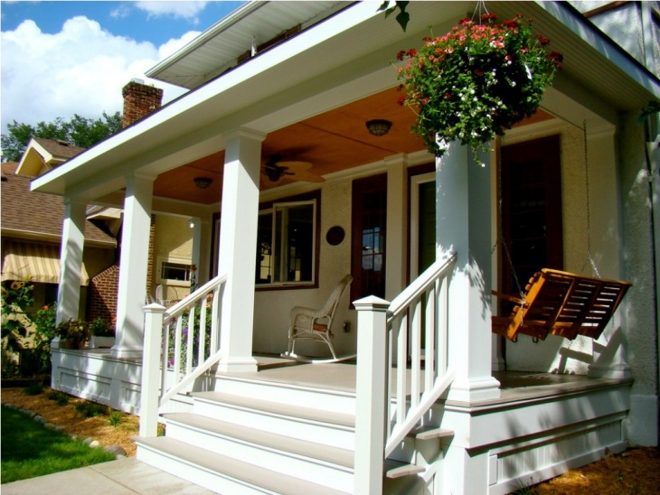 20 Front Porch Designs Ideas Design Trends Premium Psd | Front Step Design For House | Half Round | House Indian | Back Door Step | House Kerala | Circular Step