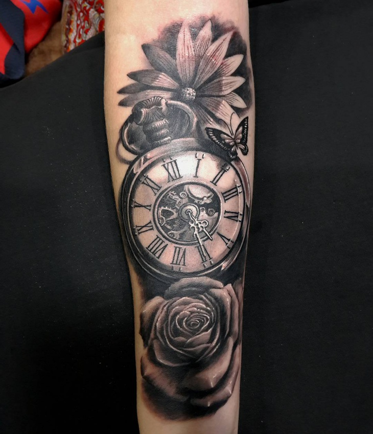 Black And Color Tattoo Gray Splash