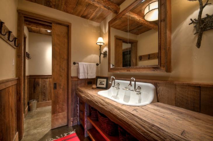 17+ Rustic Bathroom Vanity Designs, Ideas