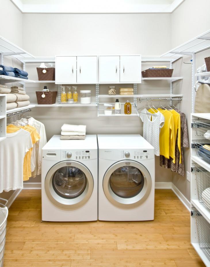 16+ Laundry Room Shelving Designs, Ideas   Design Trends ... on Laundry Room Shelves Ideas  id=91762