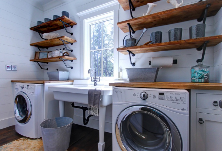 16+ Laundry Room Shelving Designs, Ideas   Design Trends ... on Laundry Room Shelves Ideas  id=96703