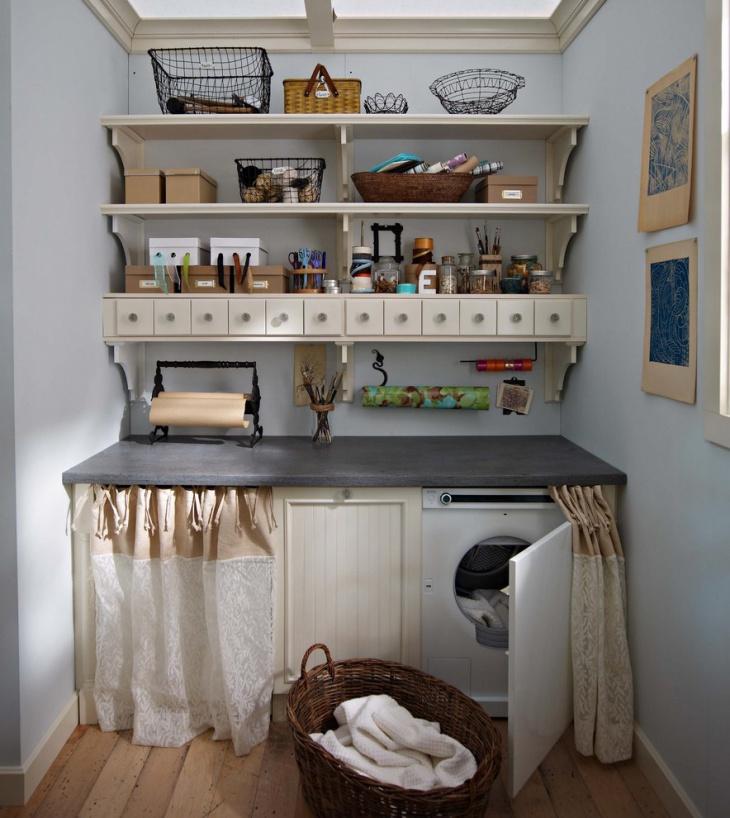 16+ Laundry Room Shelving Designs, Ideas   Design Trends ... on Laundry Room Shelves Ideas  id=32308