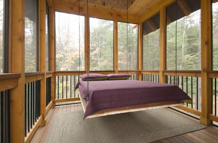 18+ Hanging Bed Designs, Ideas | Design Trends - Premium ... on Inclosed Patio Ideas  id=43355