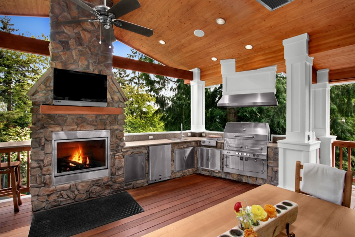18+ Outdoor Kitchen Designs, Ideas | Design Trends ... on Outdoor Kitchen And Fireplace Ideas id=75632