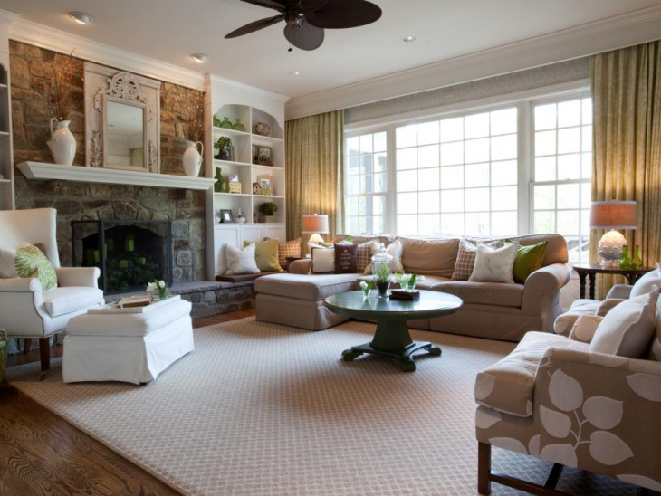 18+ Country Living Room Designs, Ideas