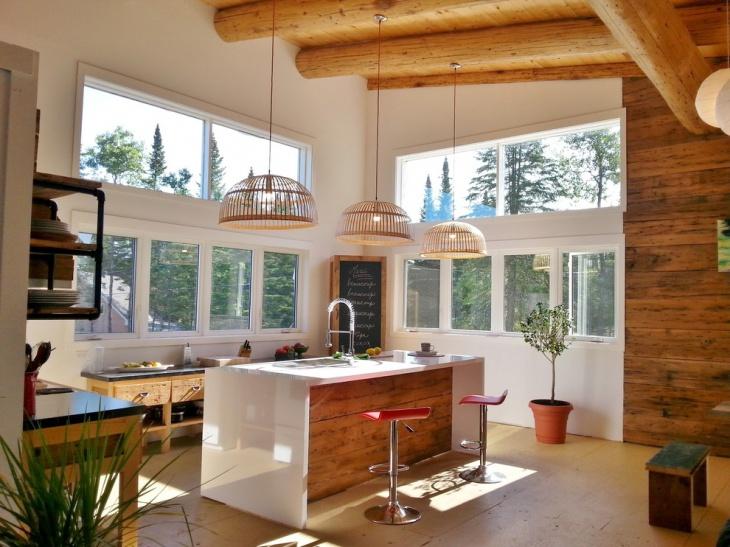 Island Galley Small Kitchen
