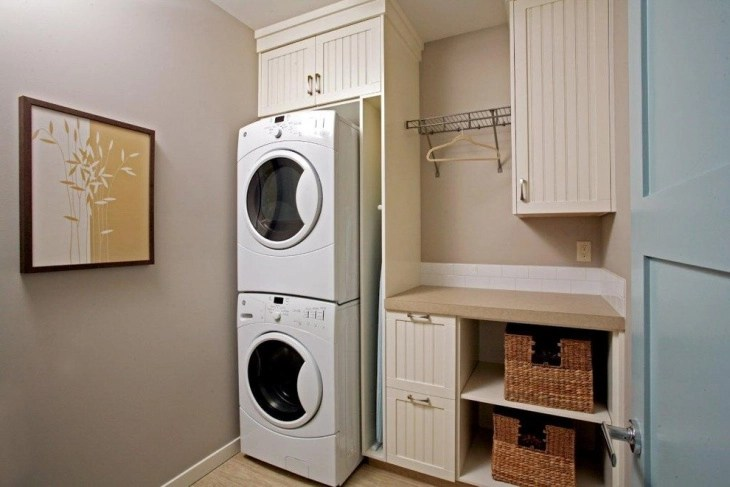 18+ Small Laundry Room Designs, Ideas   Design Trends ... on Small Laundry Room Cabinets  id=77377