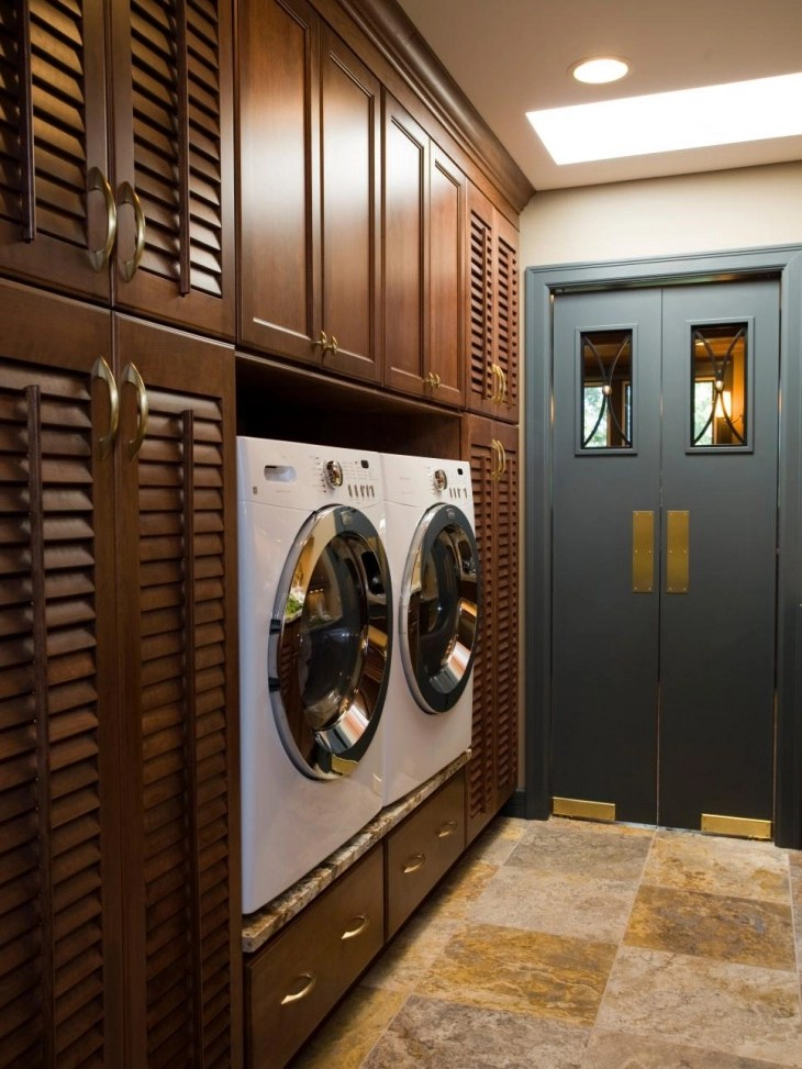 18+ Small Laundry Room Designs, Ideas   Design Trends ... on Small Laundry Room Cabinets  id=69642