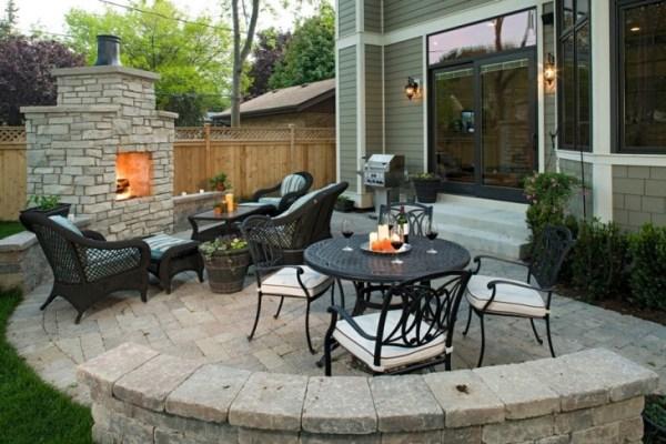 paver patio designs with fireplace 60+ Patio Designs, Ideas | Design Trends - Premium PSD