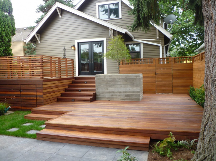 57+ Deck Designs, Ideas | Design Trends - Premium PSD ... on Raised Patio Designs  id=38594