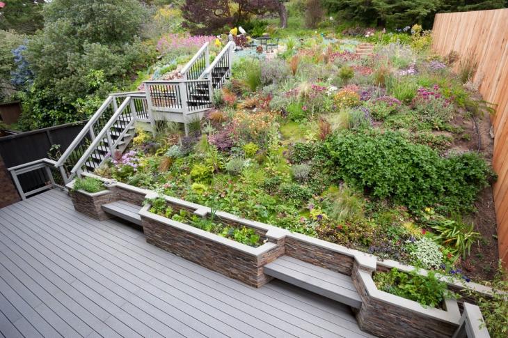 49+ Backyard Designs, Ideas | Design Trends - Premium PSD ... on Sloped Backyard Design id=83793