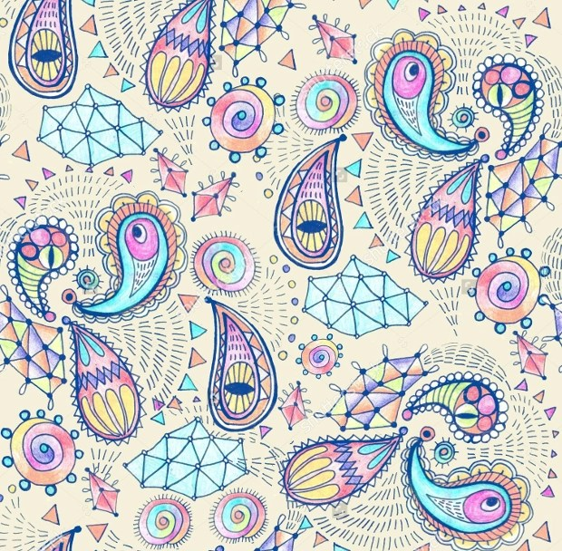 20 Paisley Patterns Psd Png Vector Eps Design