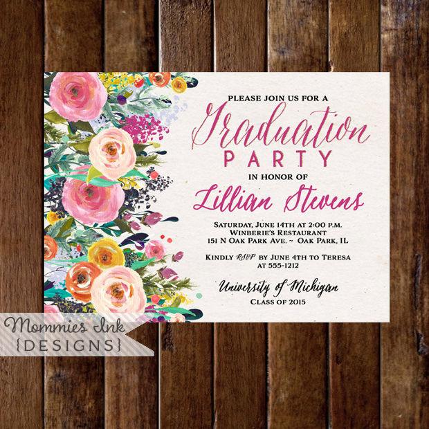 15 Graduation Party Invitations Printable PSD AI