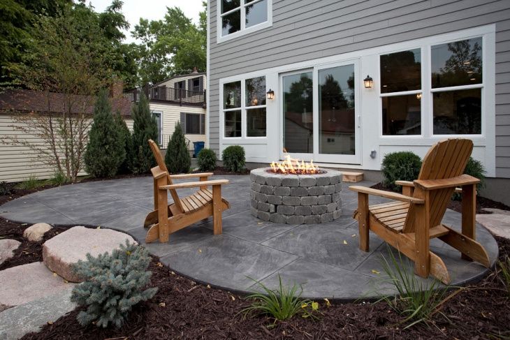 18+ Stained Concrete Patio Designs, Ideas | Design Trends ... on Backyard Porch Ideas id=77879