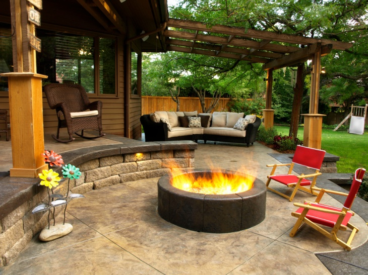 18+ Stained Concrete Patio Designs, Ideas | Design Trends ... on Backyard Concrete Patio Designs  id=15125