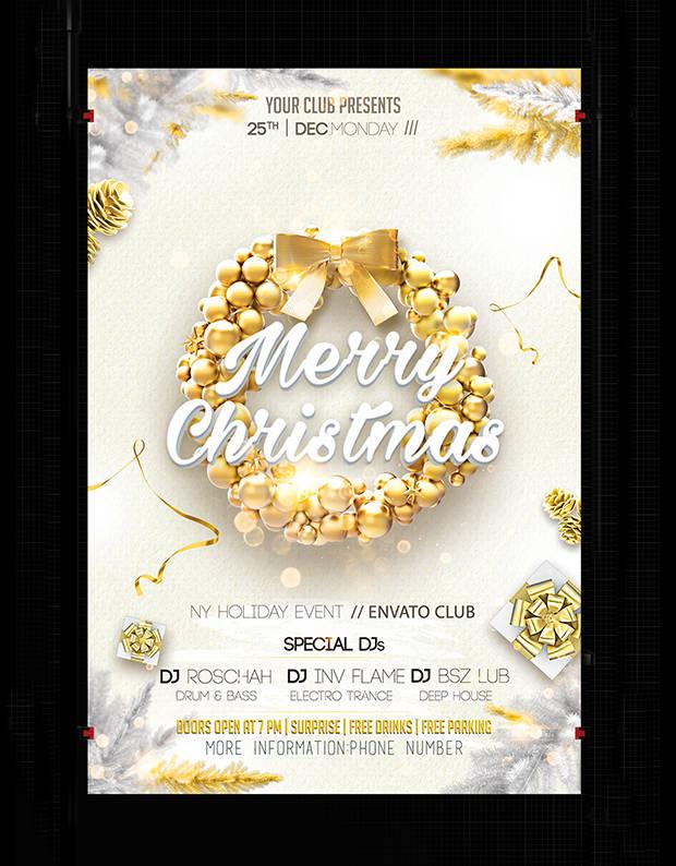 35 Christmas Designs Free Printable PSD AI InDesign