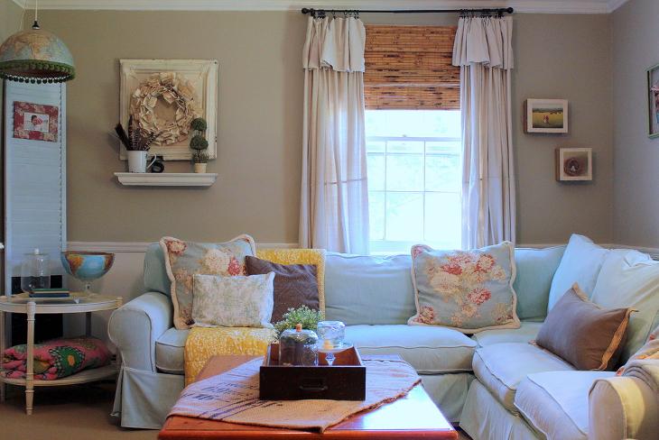 20+ Farmhouse Living Room Designs, Ideas   Design Trends ... on Farmhouse Living Room Curtains  id=78546