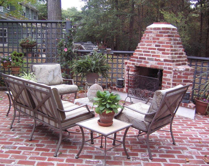24+ Outdoor Fireplace Designs, Ideas | Design Trends ... on Simple Outdoor Brick Fireplace id=99167