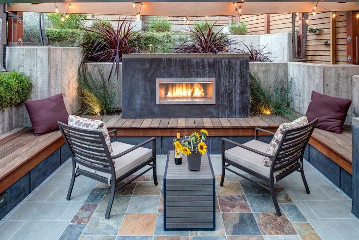 24+ Outdoor Fireplace Designs, Ideas   Design Trends ... on Small Outdoor Fireplace Ideas id=41683