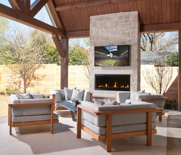 24+ Outdoor Fireplace Designs, Ideas   Design Trends ... on Small Outdoor Fireplace Ideas id=20247