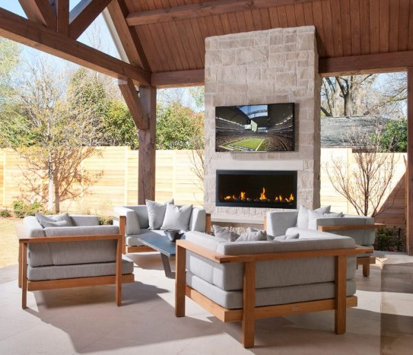 small outdoor patio fireplaces 24+ Outdoor Fireplace Designs, Ideas | Design Trends