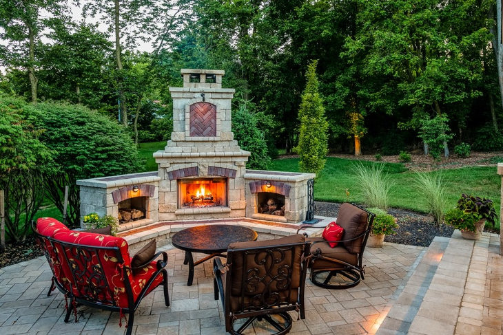 24+ Outdoor Fireplace Designs, Ideas | Design Trends ... on Simple Outdoor Brick Fireplace id=15431