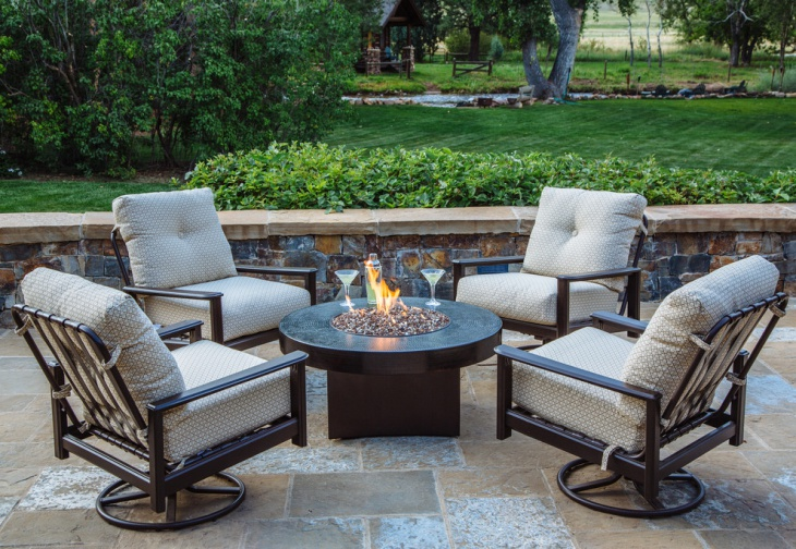 21+ Outdoor Fire Pit Designs, Ideas   Design Trends ... on Outdoor Gas Fireplace For Deck id=40671