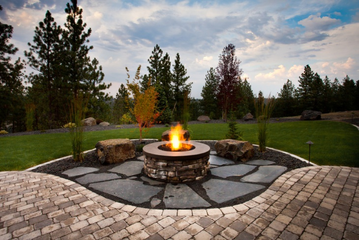 19+ Stone Fireplace Designs, Ideas | Design Trends ... on Fireplace In Yard  id=68123
