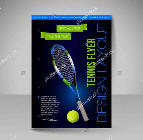 10 Tennis Flyers Printable PSD AI Vector EPS Format Download Design Trends Premium PSD