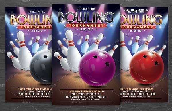 16 Bowling Flyer Designs Printable PSD AI Vector EPS Format Download Design Trends