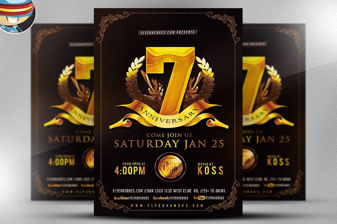 8 Anniversary Flyer Designs Psd Ai Vector Eps Format