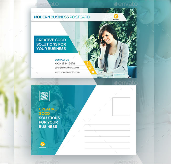 14 Modern Postcard Templates PSD AI InDesign Word Design Trends Premium PSD Vector