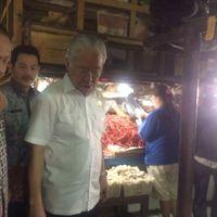 Kunjungan Singkat di Pasar Tridatu, Lampung, Mendag Cek Harga Gula dan Daging