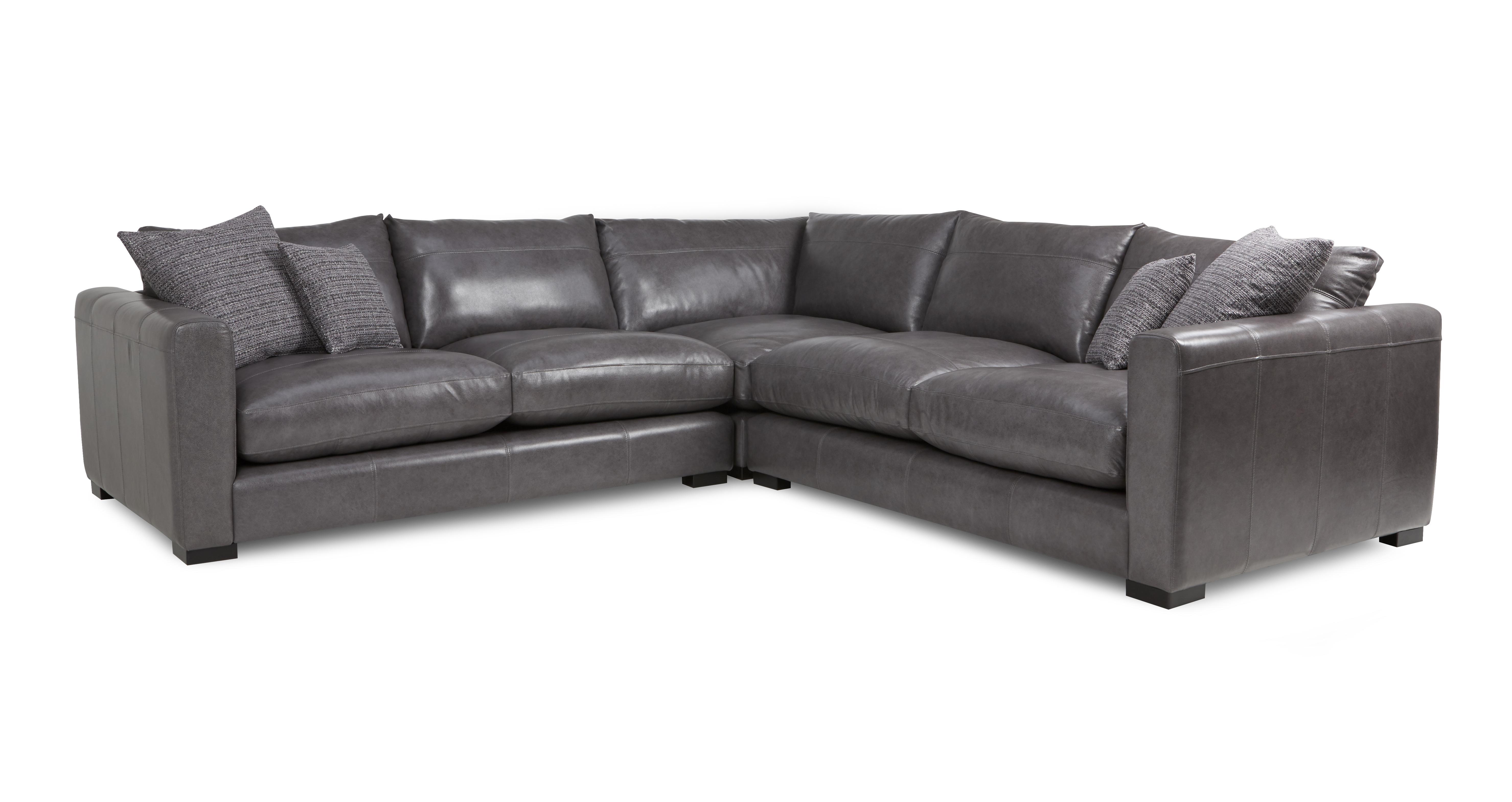 Dillon Leather Small Corner Sofa