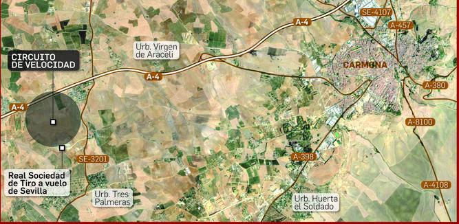 La zona donde irá ubicado el circuito de velocidad.